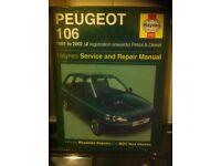 Haynes Workshop Manual For Peugeot 106 91-02