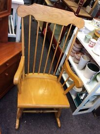 Lovely light wood rocking chair