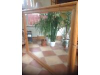 Extra large pine framed mirror