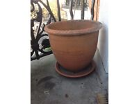 2 Large Terracotta Clay Pots