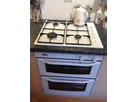 GAS HOB, DOUBLE ELECTRIC OVEN AND EXTRACTOR FAN