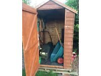 6x4 overlap garden shed and extra felt
