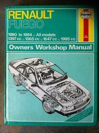 Haynes Manual For Renault Fuego 80-84