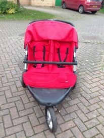 Mothercare double pushchair plus two cosytoes