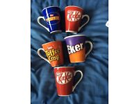5 chocolate brand mugs