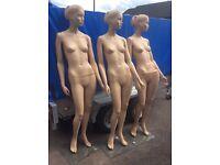 3 x flesh coloured mannequins