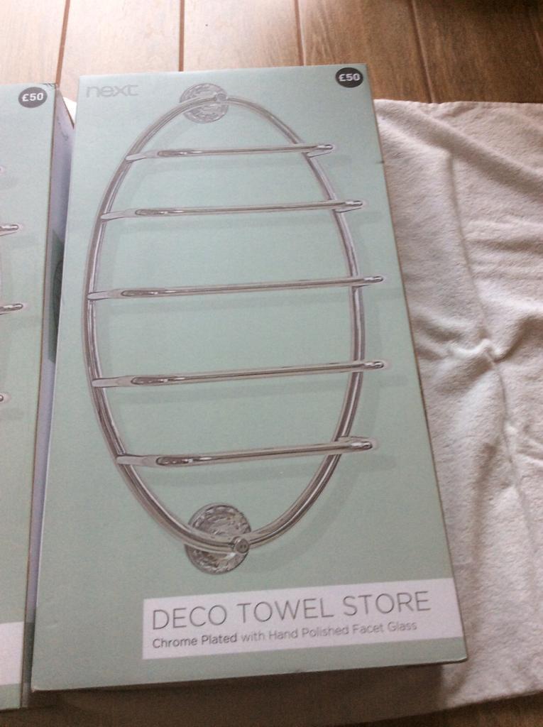 Towel store rack next