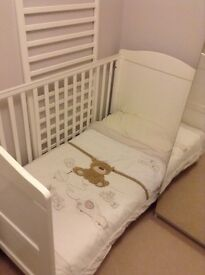 Childs Cot Bed and mattress