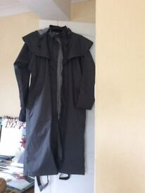 Grey trench Mac. Worn once but wrong size. Cost £30 new. Made by Country Estate.