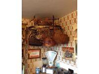 Vintage hanging kitchen rack only £35 for quick sale tel Liz 07933 398348
