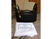 New Lulu Guinness Mid Black Leather Handbag