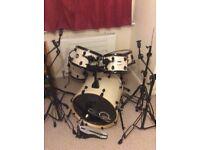 Males rock drum kit