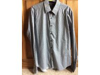 Men's patterned shirt by Jeff Banks medium slim fit NEW
