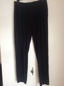 Black slouch trousers