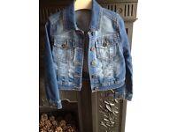 Girls denim jacket, age 4-5