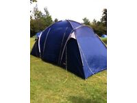 4 man tent blue ideal for festival