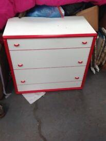 Set off bedroom drawers