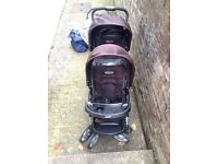 Double tandem buggy pushchair by Graco - used only for 8 months