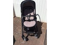 Limited addition sifari silver cross pram with carry cot and matching bag