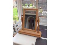 Pine dressing table mirror £15