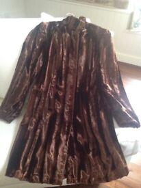 Gorgeous brown faux fur coat, size 14