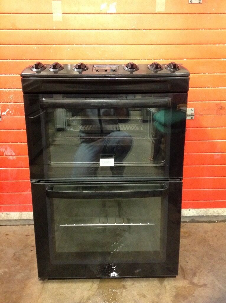 Zanussi gas cooker ZCG662GNC FSD black double oven 3 months warranty free local delivery!!!!!