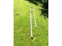 Scaffolding poles and connectors / 13ft boards