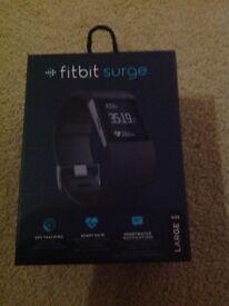 Fitbit surge large black NEW