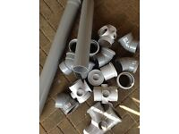 "4"" soil pipe and fittings,new."