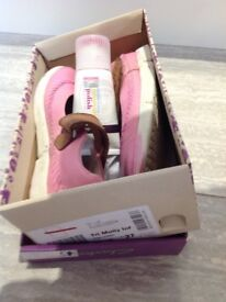 Girls Pink Clarks Shoes 9F