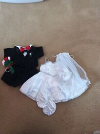 BUILD A BEAR BRIDE AND GROOM OUTFIT £10 EACH OR BOTH FOR £15