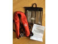 USED ONCE Marinepool Inshore EN396-150N Automatic Lifejacket (Lifebelt Harness)