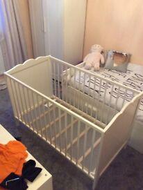 Beautiful white Ikea cot