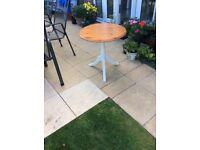 Ducal pine top pedestal coffee table