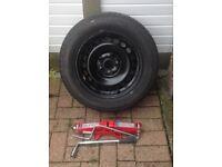 Full size spare wheel for Skoda/VW