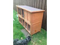 Two tier rabbit hutch ,