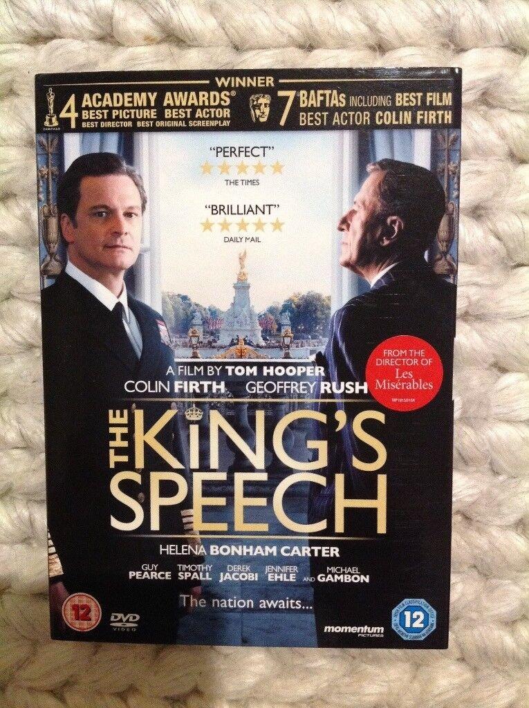The Kings speech DVD film