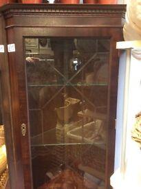 Glass corner unit £15