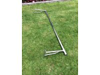 Clothes rail heavy duty wall mounted with brackets in chrome for professional / domestic use