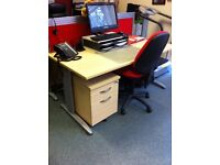 Office Furniture / Red Partitions