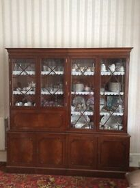 Antique Mahogany Display Cabinets