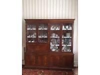Antique Mahogany Display Cabinets