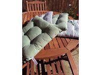 Garden chair cushions.