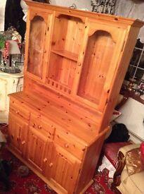 Solid Pine Dresser, with Lights.