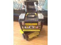 Stanley Mobile Work Centre Garage Toolbox Storage 3 - 1 Cart.