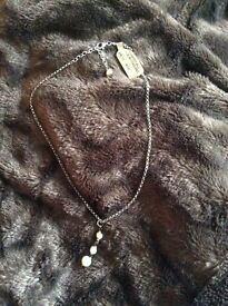 Banana Republic silver necklace with Pearls