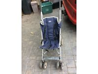 Chico buggy with foot muff. Fluffy seat cover and rain cover