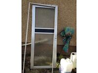 Aluminium door and frame in good condition