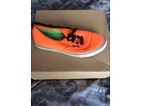 Neon orange ladies vans