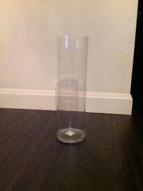 Clear Cylinder Vase x6